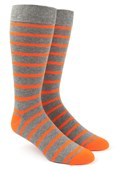 Men's Socks - Trad Stripe - Tangerine