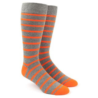 trad stripe tangerine dress socks