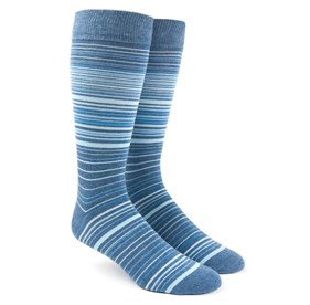 Multistripe Blue Men's Socks