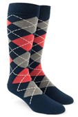 Men's Socks - Argyle - Melon