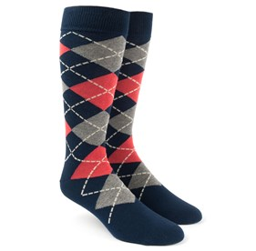 Melon Argyle mens socks