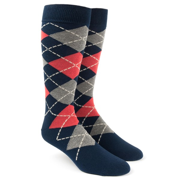Melon Argyle Socks