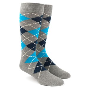 argyle turquoise dress socks