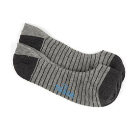 Charcoal Pencil Stripe mens socks