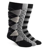 Men's Socks - The Black Sock Pack - BLACK