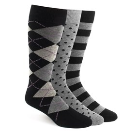 The Black Sock Pack Black Men's Socks