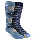 Men's Socks - The Blue Sock Pack - NAVY