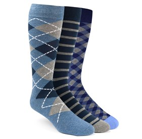 Navy The Blue Sock Pack mens socks