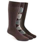 Men's Socks - The Brown Sock Pack - BROWN