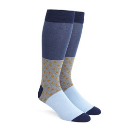 Orange Colorblock Dots mens socks