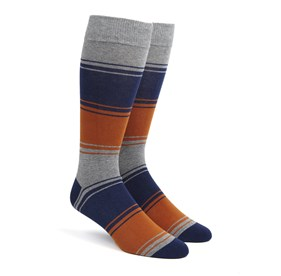 Orange Alt Stripe mens socks