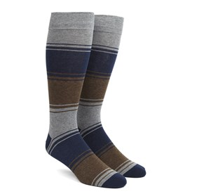 Brown Alt Stripe mens socks