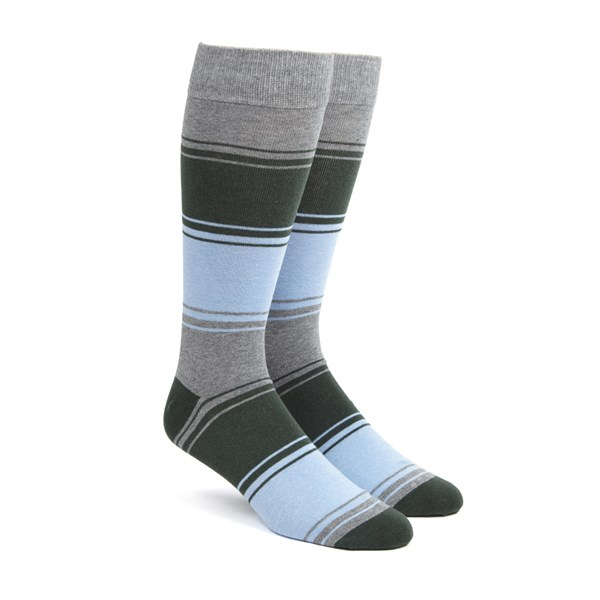 Hunter Green Alt Stripe Socks