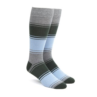 alt stripe hunter green dress socks