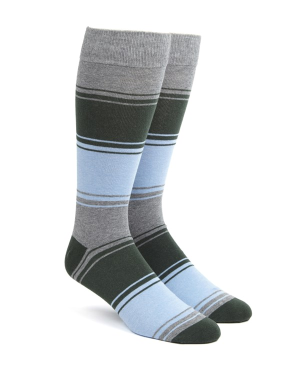 Alt Stripe Hunter Green Socks