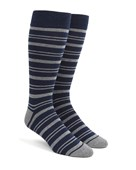 Men's Socks - Path Stripe - Navy