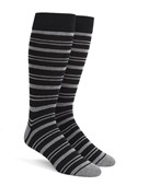 Men's Socks - Path Stripe - Black