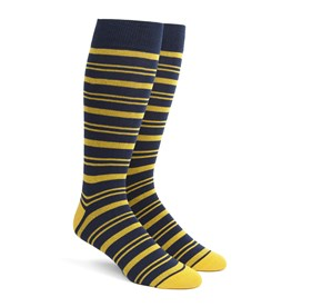 Gold Path Stripe mens socks