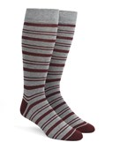 Men's Socks - Path Stripe - Grey