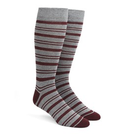 Grey Path Stripe mens socks