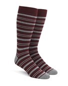 Men's Socks - Path Stripe - Burgundy