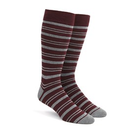 Path Stripe Burgundy Men's Socks