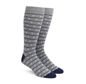 Grey Ringside Dots mens socks