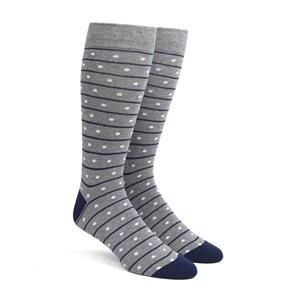 ringside dots grey dress socks