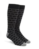 Men's Socks - Ringside Dots - Black