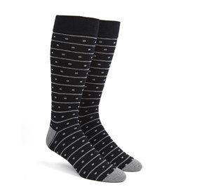 Black Ringside Dots mens socks