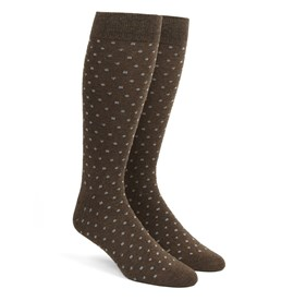 Brown Confetti mens socks
