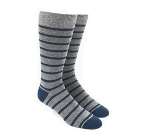 Grey Trad Stripe mens socks