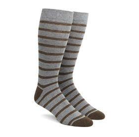 Brown Trad Stripe mens socks