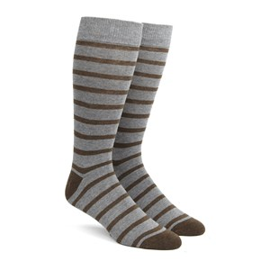 trad stripe brown dress socks