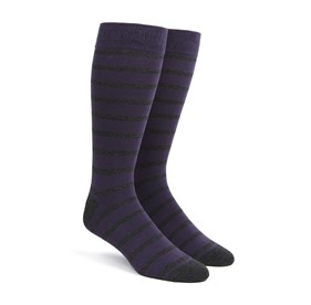 Trad Stripe Purple Men's Socks