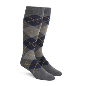 Greys Argyle mens socks