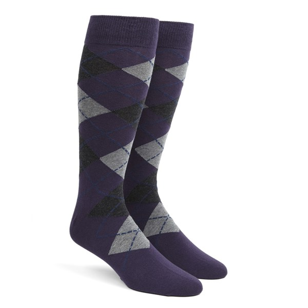 Purple Argyle Socks