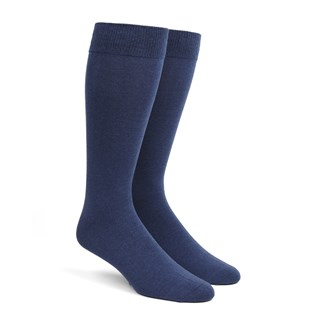 solid blues dress socks