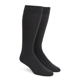 Charcoal Solid mens socks