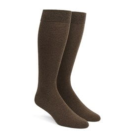 Solid Chocolate Brown Men's Socks