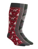 Men's Socks - Holiday Sock Pack - Red