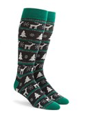 Men's Socks - Winter Stripe - Green