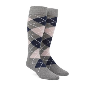 Blush Pink Argyle mens socks