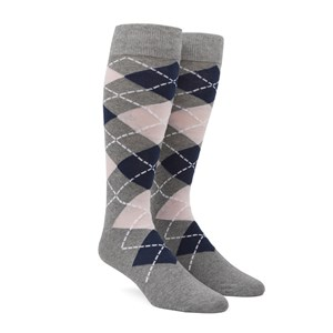argyle blush pink boys socks