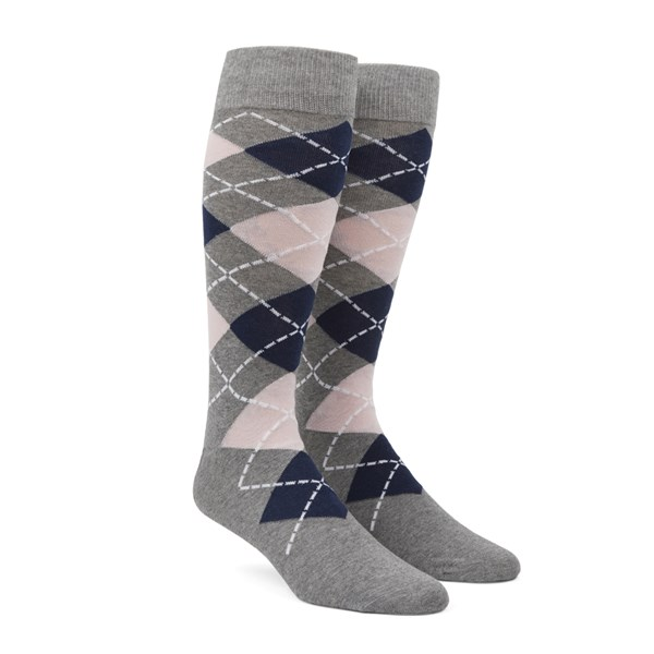 Blush Pink Argyle Socks
