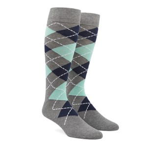 argyle mint dress socks