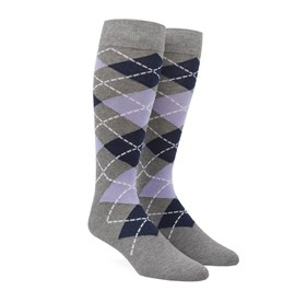 Lavender Argyle mens socks