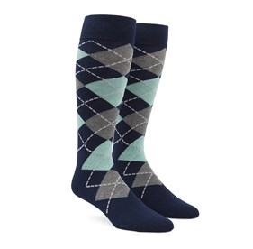 Spearmint Argyle mens socks