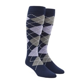 Lilac Argyle mens socks