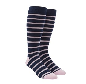 Light Pink Trad Stripe mens socks